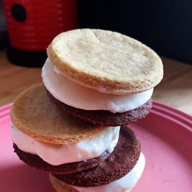 Healthy Frozen Yogurt Cookie Sandwiches Recipe   SideChef