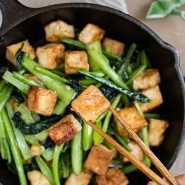 Choy Sum (Chinese Green) and Tofu in Garlic Sauce Recipe   SideChef