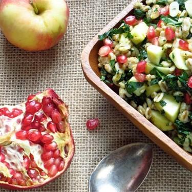 Farro with Pomegranate and Apple Recipe | SideChef