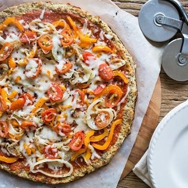 Cauliflower & Flax Pizza with Veggies Recipe | SideChef
