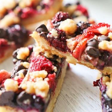 Mixed Berry Crumble Bars Recipe | SideChef