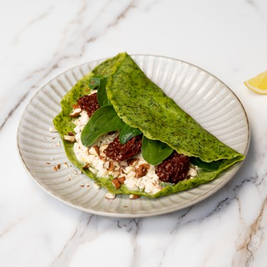 Green Crepes with Goat Cheese and Sun-dried Tomatoes Recipe | SideChef