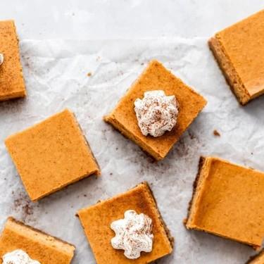 Pumpkin Cheesecake Bars Recipe   SideChef