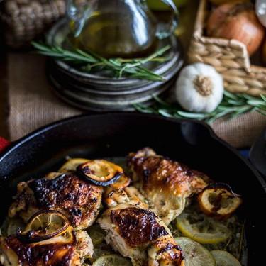 Lemon and Rosemary Roast Chicken with White Wine Recipe | SideChef
