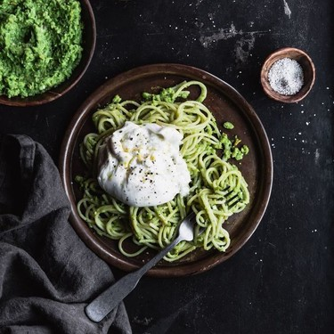 Pea & Pistachio Pesto Pasta Recipe | SideChef