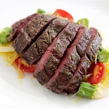 Hanger Steak with Spaghetti Squash & Okra Saute Recipe   SideChef