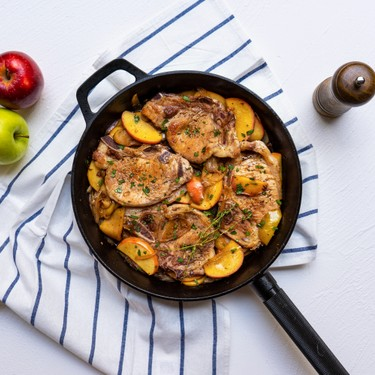 One Pan Pork Chop with Caramelized Apple and Onion Recipe   SideChef