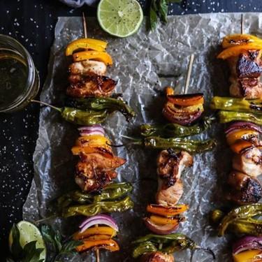 Teriyaki Chicken and Shishito Skewers Recipe   SideChef