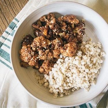 Balsamic Maple Glazed Cauliflower and Barley Recipe   SideChef