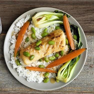 Miso Glazed Cod with Jasmine Rice, and Bok Choy Recipe   SideChef