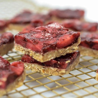 Easy No-Bake Honey Roasted Peanut Butter and Jelly Bars Recipe   SideChef