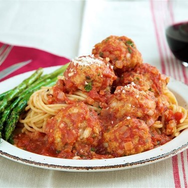 Italian Turkey Meatballs with Roasted Asparagus Recipe | SideChef
