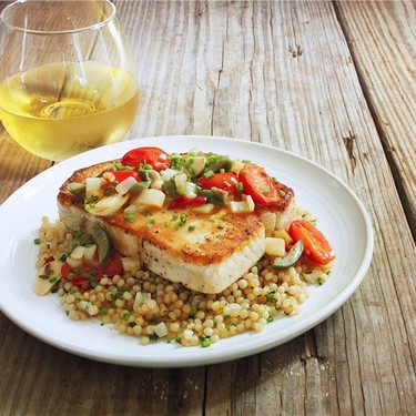 Pan Roasted Swordfish with Spicy Tomatoes Recipe   SideChef