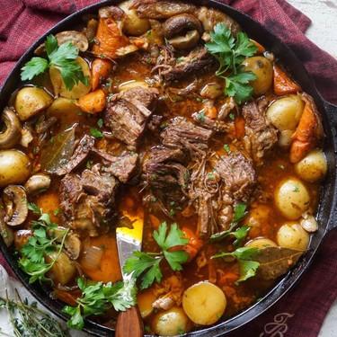 Skillet Beef Short Rib Pot Roast Recipe   SideChef