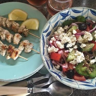 Simplest Souvlaki and Greek Salad Recipe   SideChef