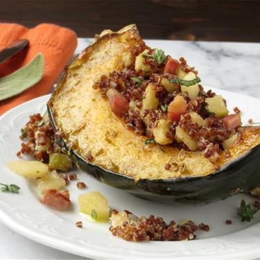 Quinoa and Apple Stuffed Acorn Squash Recipe | SideChef