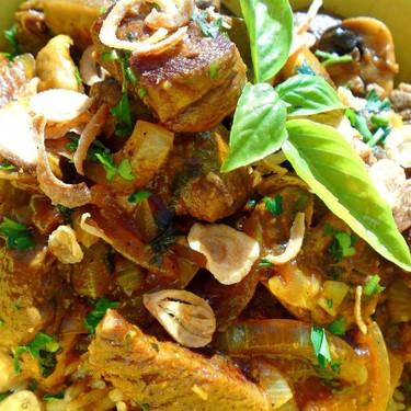 Curried Beef and Mushroom Buddha Bowl Recipe   SideChef