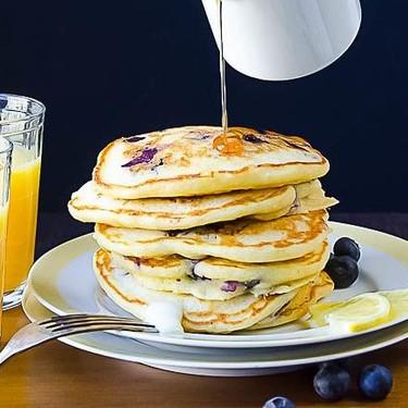 Blueberry Lemon Cornmeal Pancakes Recipe | SideChef