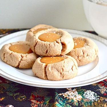 Salted Caramel Thumbprint Cookies Recipe   SideChef