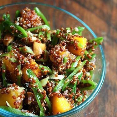 Quinoa Salad with Mango, Snap Peas, Ginger & Lime Recipe   SideChef