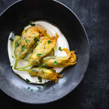 Greek Squash Blossoms with Rice Recipe   SideChef