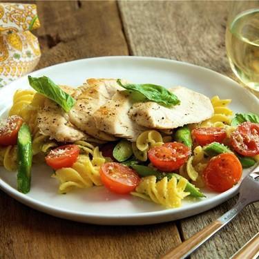 Chicken and Quinoa Pasta with Pesto Recipe | SideChef