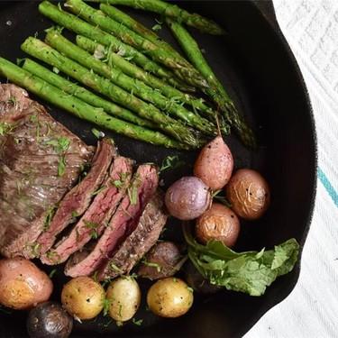 Skirt Steak with Roasted Vegetables Recipe   SideChef