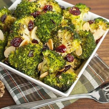 Cranberry Almond Roasted Broccoli Recipe   SideChef