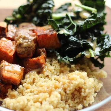 Kale & Sweet Potato Quinoa Bowl Recipe   SideChef