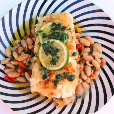 Sautéed Cod Fillet with Cannellini Bean Salad Recipe | SideChef