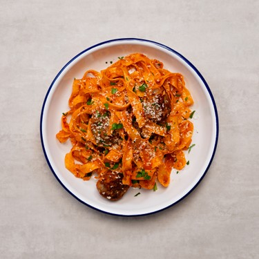 Fettuccine with Meatballs & Tomato Sauce Recipe   SideChef