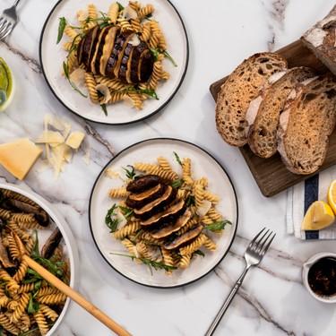 Grilled Portobello Mushroom Pasta Salad Recipe   SideChef