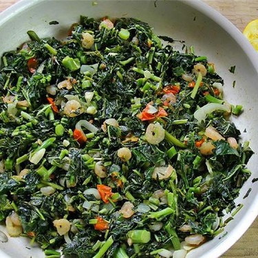 Jamaican Callaloo With Shrimp Recipe | SideChef