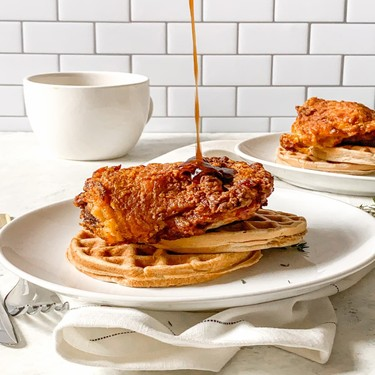Air-Fried Hot Chicken and Waffles Recipe   SideChef