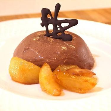 Chocolate Panna Cotta with Caramelized Pears & Hazelnut Cookies Recipe | SideChef