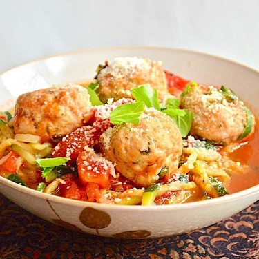 Chicken Meatball Zoodles Recipe   SideChef