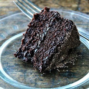 Double Chocolate Cake with Black Velvet Icing Recipe | SideChef