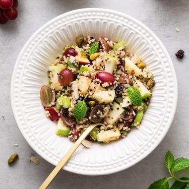 Apple Quinoa Salad with Sweet Tahini Dressing Recipe | SideChef