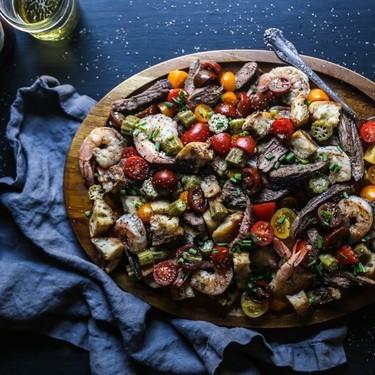 Chipotle Steak and Shrimp Panzanella Recipe   SideChef