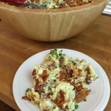 Southern Style Potato Salad with Bacon Recipe | SideChef