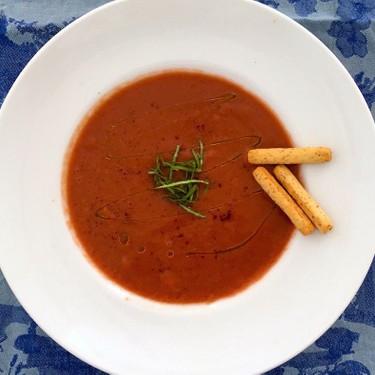 Cherry Chipotle Gazpacho Recipe   SideChef