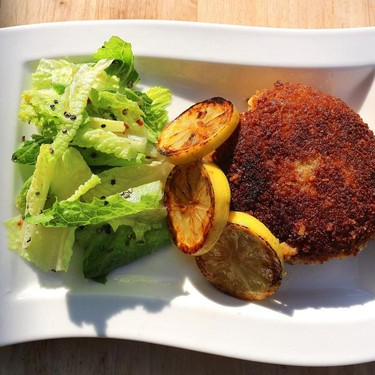 Breaded Meat Patties with Swiss cheese Recipe   SideChef