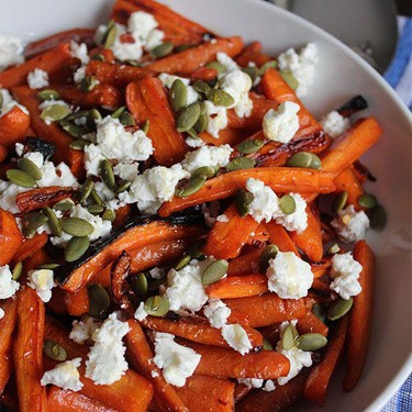 Hot Honey Roasted Carrots with Goat Cheese Recipe   SideChef