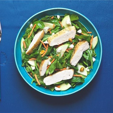 Chicken Arugula Salad with Apple and Goat Cheese Recipe | SideChef