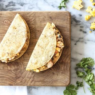 Elote Corn and Chicken Quesadillas Recipe | SideChef
