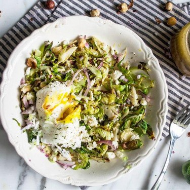 Brussels Sprouts Breakfast Bowl with Poached Eggs Recipe   SideChef