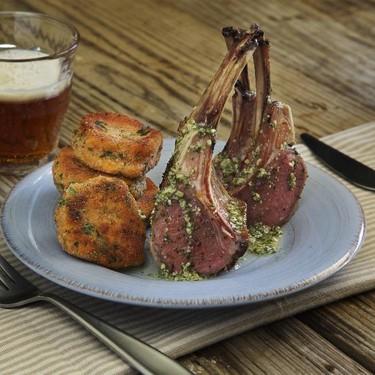Lamb Chops with Mint Pesto and Sweet Maple Potato Recipe | SideChef