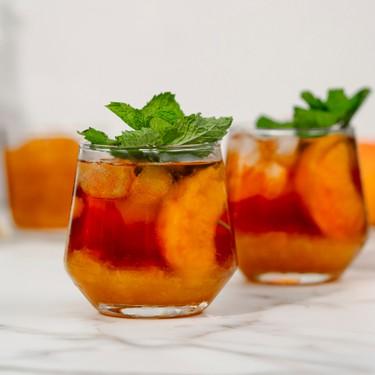 Ginger Peach Iced Tea Recipe   SideChef