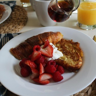 Croissant French Toast with Red Berries Recipe   SideChef