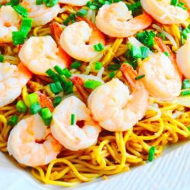 Chengdu Style Noodles With Coco Lime Shrimp Recipe | SideChef